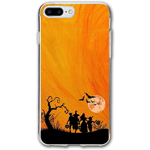Bobbing For Apples Costumes (Luxury Cute Strap Phone Case Cover Floral Pattern Happy Halloween Horrific Bat Pumpkin Cell Phone Case For IPhone 7/6/6s/7 Plus/6 Plus/6s Plus (5.5 Inch))