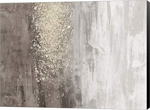 Glitter Rain II by Jennifer Goldberger Canvas Art Wall Picture, Museum Wrapped with Black Sides, 21 x 16 inches ()