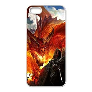 Diy Red Dragon Custom for iphone 5s White Shell Phone Case LIULAOSHI(TM) [Pattern-5] by runtopwell