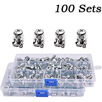 screw+washer+cage Nut Rack Mounting Screws For Cabinet 100% Original M6 Screws 50 Sets Pack