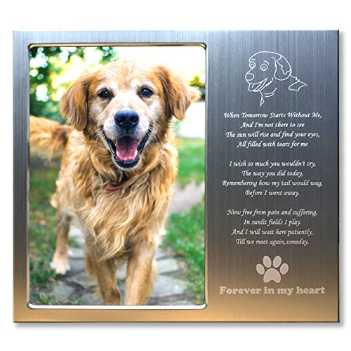 - JOEZITON Pet Memorial Personalized Picture Frame for Dogs. Cleverly Designed for 4x6