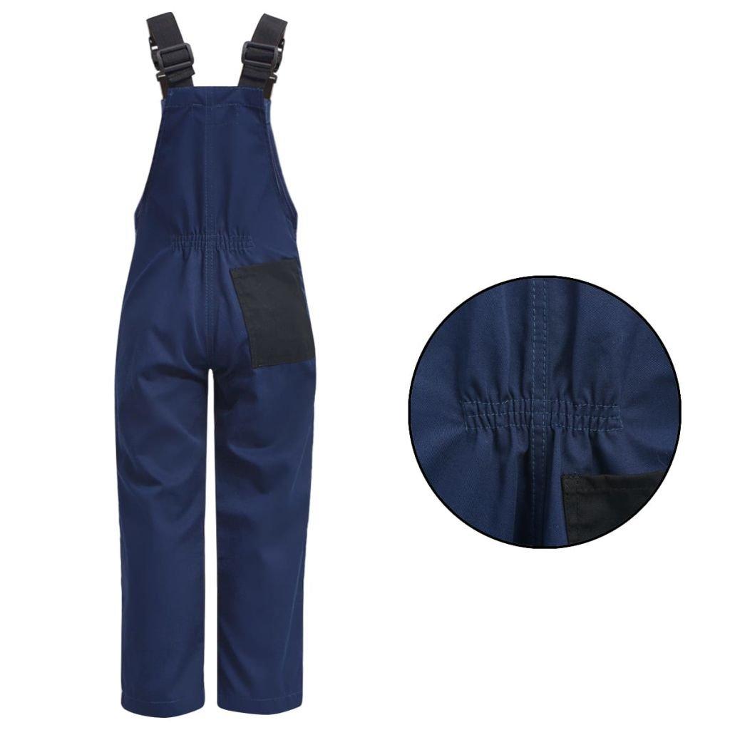 vidaXL Salopette /à bavette V/êtement de travail pour enfants Taille 98//104 Bleu