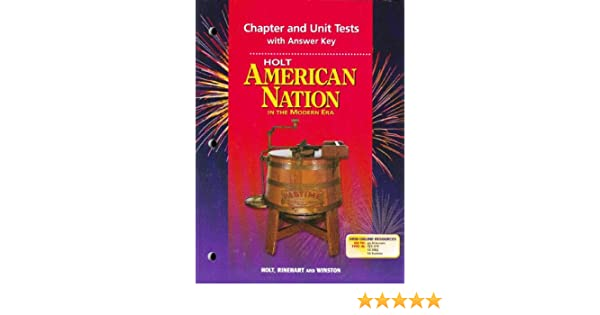 Amazon holt american nation in the modern era chapter and amazon holt american nation in the modern era chapter and unit tests with answer key 9780030389047 rinehart and winston holt books fandeluxe Images