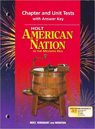 Amazon holt american nation in the modern era chapter and holt american nation in the modern era chapter and unit tests with answer key 1st edition fandeluxe Gallery