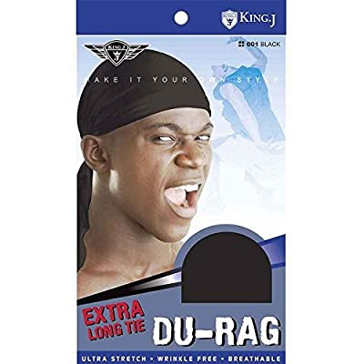 (3 Pack) King J - Extra Long Tie Durag #001 by King J