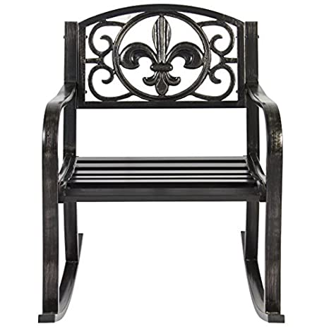 Amazoncom Charming Outdoor Metal Rocking Chair Durable And Long