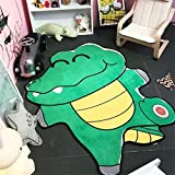 Crocodile Shape Carpet Kids Room 100x150cm Children Play Game Floor Mat Home Entrance Doormat Study Area Rug Baby