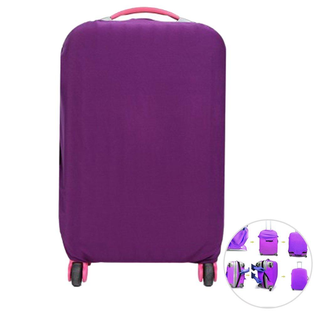 WINOMO Funda de maleta Cubierta Maleta de Equipaje con 18-20 pulgadas Morado