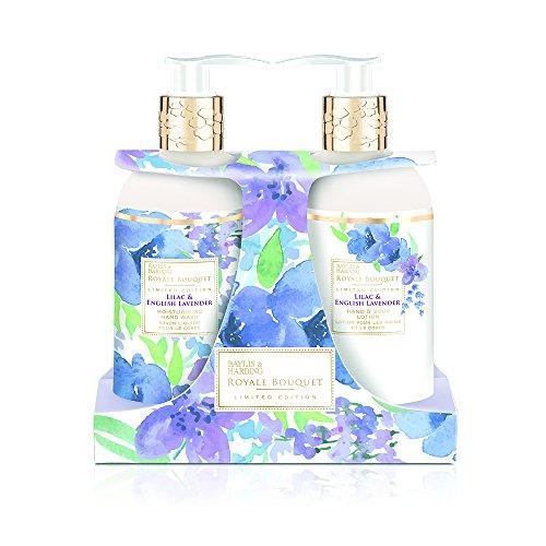 (Baylis & Harding Royale Bouquet Lilac & English Lavender 2 Bottle Set, 1220 Gram)