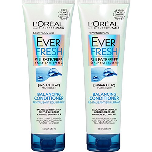 LOreal Paris Hair Care Ever Fresh Balancing Conditioner Sulfate Free, 2 Count