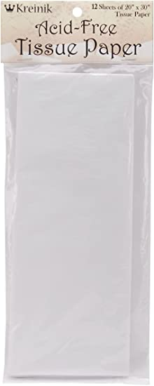 Kreinik 12 Sheets of Acid Free Tissue Paper 2 Pack 20 by 30-Inch