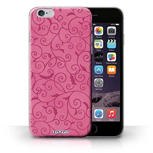 iCHOOSE Print Motif Coque de protection Case / Plastique manchon de telephone Coque pour iPhone 6+/Plus 5.5 / Collection Motif de la vigne / Rose