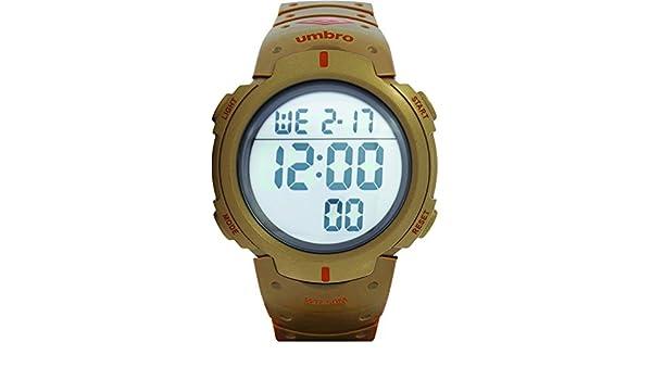 Umbro umb-03 - 5 Unisex ABS dorado, bisel de ABS 48 mm caso analógico Miyota 2025 precisión electrónica movimiento resistente al agua 5 ATM Reloj Deportivo: ...
