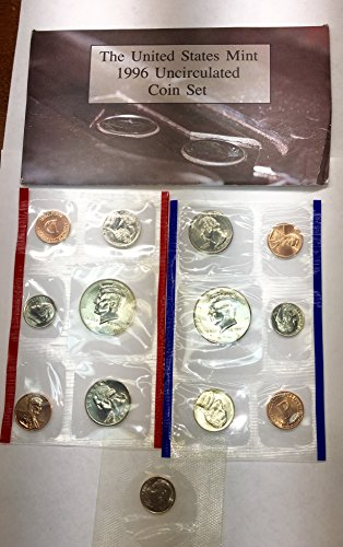 (1996 P D US Mint Set 11 Piece Comes in the Packaging from the Mint Brilliant Uncirculated)