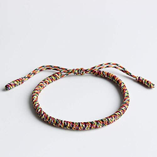 87eecb3bc1 Image Unavailable. Image not available for. Color  TALE Lucky Rope Bracelet  Tibetan Buddhist Handmade Knots ...
