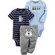 Carter's Baby Boys' 3 Piece Daddy Best Friend Little Character Set 3 Months