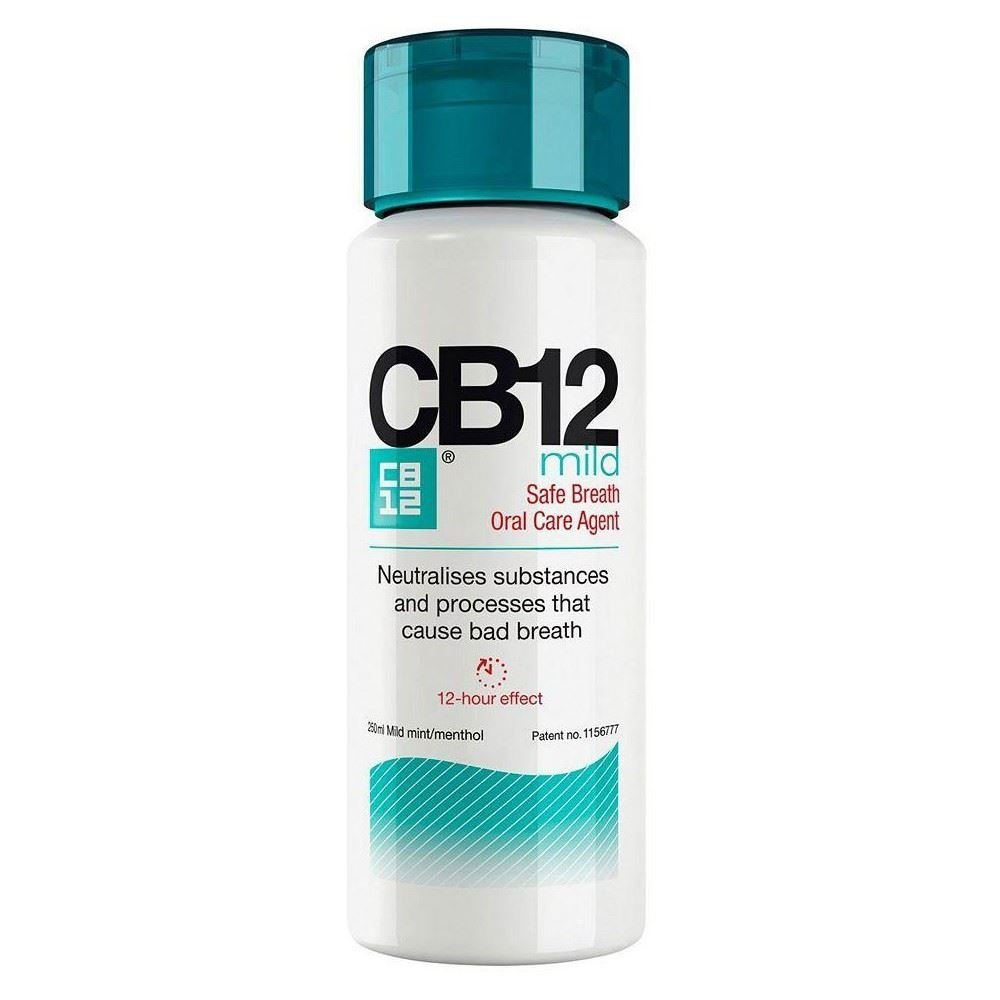CB12 Mild Mint Menthol Mouthwash (250ml) - Pack of 6