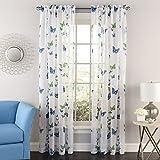 Cheap Lorraine Home Fashions 06042-72-00003 BLUE Butterflies Tailored Window Curtain Panel, Blue, 54″ X 72″