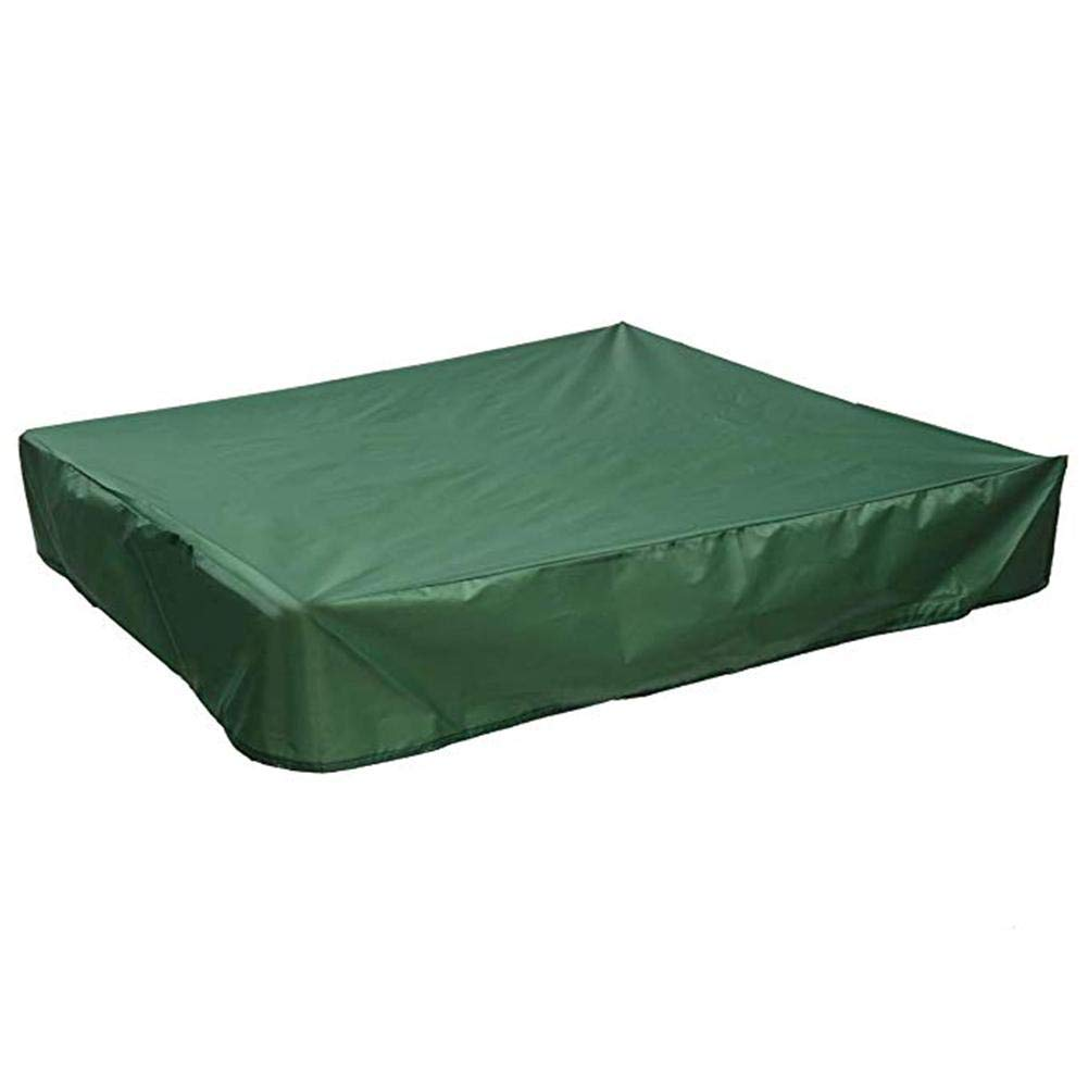 Funarrow Green Sandbox Covers with Drawstring Multi-Purpose Waterproof Poly Tarp Cover Cover Pool Cover 95 UV Protection Dustproof, Avoid The Sand and Toys Contamination by Funarrow (Image #5)