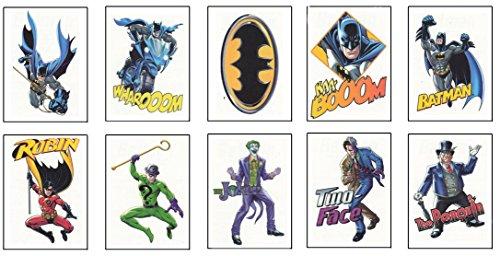 Batman Temporary Tattoos - 10 Tats on 10 Small Sheets (one tat per sheet) -