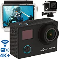 Premium Sports Camera - 4K Action Camera - Best 2018 WiFi HD Sport Camera - 16MP Sony Sensor - Waterproof Camera Case w/ Remote Control - 170 Degree Camera Black with Go Pro Accessories Kit