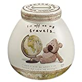 Pots Of Dreams Teds Travel Ceramic Money Pot (One Size) (Multicolored)