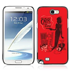 YOYOSHOP [Funny Cute & Silly Cat's Poster] Samsung Galaxy Note 2 Case