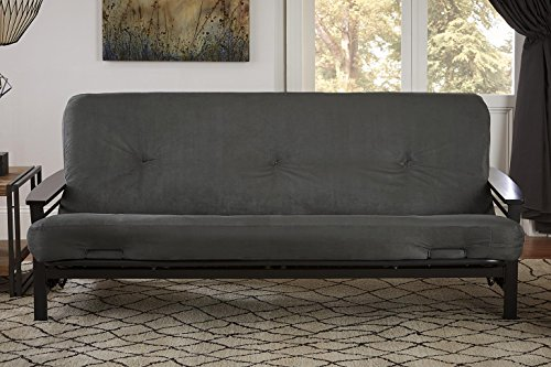 DHP 6-Inch Independently Encased Coil Futon Mattress, Full Size, Gray