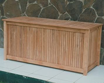 Attirant Royal Teak 53u0026quot; Cushion Storage Box
