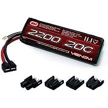 Veneno 20C 3S 2200mAh 11.1V Lipo Batería con Universal Plug (EC3/decanos/Traxxas/Tamiya) para RC Car Truck Avión Drone Heli
