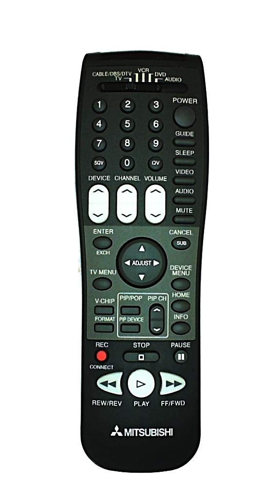 Mitsubishi HDTV Projection TV Remote Control 290P122A10 Supplied with models: WD-52527 WD-52627 WD-62527 WD-62627 WD-52526 WD-62526 WS-48515 WS-55515 WS-55517 WS-55615 WS-65515 WS-65517 WS-65615 WS-73517 WS-73615 WS-55859 WS-55909 WS-65859 WS-65869 WS-65909 WS-73909