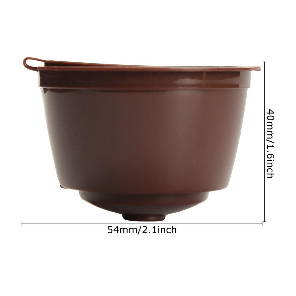 SAVORI 3 Piezas Cápsulas de Café Recargable Reutilizable para ...