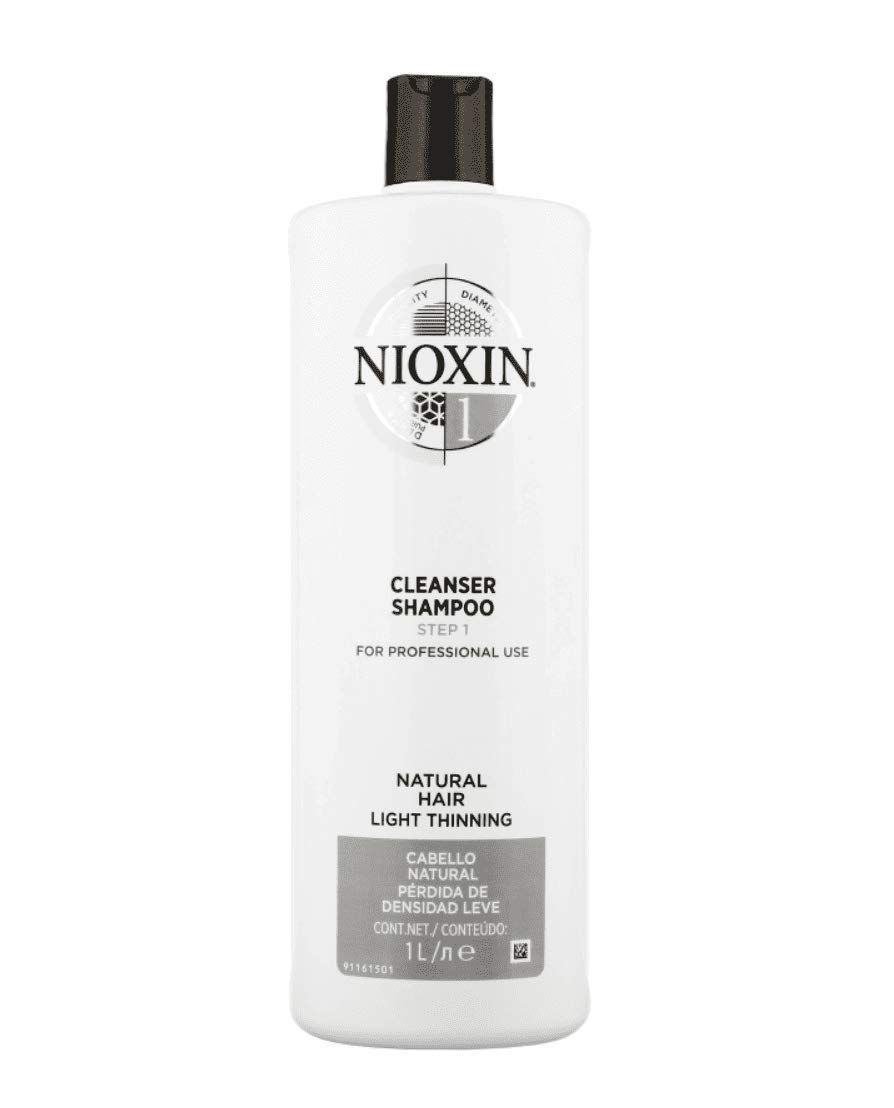 Nioxin Cleanser Shampoo System 1 for Fine Hair with Light Thinning, 33.8 Ounce by Nioxin
