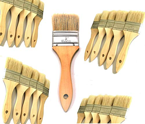 PANCLUB 45 Pack of 2 inch Paint and Chip Paint Brushes Bulk, for Paint, Gesso, Glues, Varnishes, Stains, and Acrylics 2' Economy Paint Brush