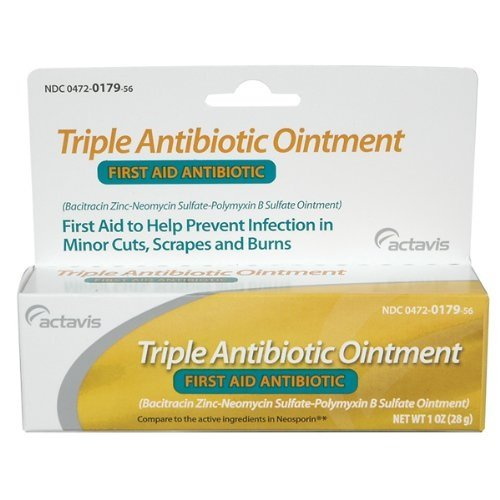 Triple Antibiotic First Aid Ointment, 1oz per Tube (3 Pack)