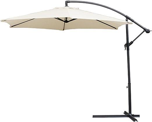 HG® 3.0m Sombrilla de jardín Protección Solar Para terraza jardín ...