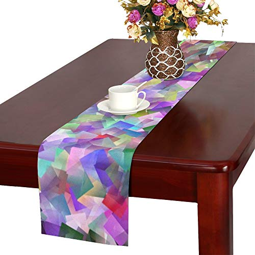 WBSNDB Spots Blacks Purples Patterns Round Circles Table Runner, Kitchen Dining Table Runner 16 X 72 Inch for Dinner Parties, Events, - Free Hardanger Patterns