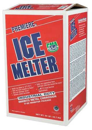 Ice Melt, Granular, 50 lb. Carton, -8 F by Premiere