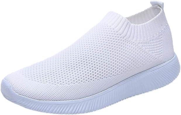 Zapatillas Deportivas de Mujer Verano 2019 PAOLIAN Zapatos de Deporte Running Comodas Vestir Señora Casual Calzado de Plano Damas Sólido Sin Cordones Talla Grande 35-43 EU: Amazon.es: Zapatos y complementos