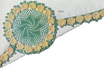 Vintage Crochet Pattern ~ Irish Rose for Pillowcases