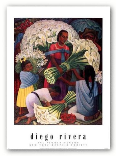 The Flower Vendor by Diego Rivera 23.75