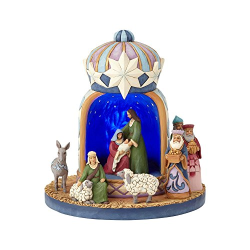 Enesco Jim Shore Heartwood Creek Lighted Nativity Crown, 8