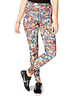 Jessica Simpson Juniors The Warm Up Butterfly Printed Active Performance Leggings