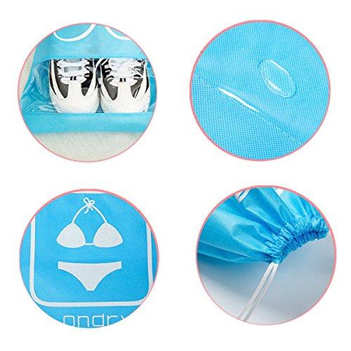 bureze 10Stück Wasserdicht Kordelzug-Staub Tasche Vlies Stoffe Staubdicht Aufbewahrungstasche Buggy Tasche