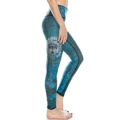 Herafit Women's Premium Yoga Pants Leggings - Ghost Wolf