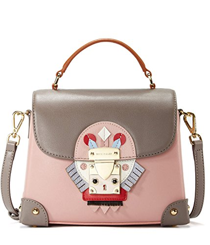 Style EMINI Purse Bag Handbag Indian Bags Shoulder Strap Niche Padlock pink Chain Crossbody Leather with Nappa Women Chic HOUSE Padlock for Owr7q4fO