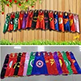 Kids Capes Superhero and Princess Cape and Mask Sets, Great for Dressing Up