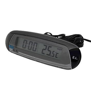 CARPOINT Termometro interna/externa con reloj y de alerta el hielo