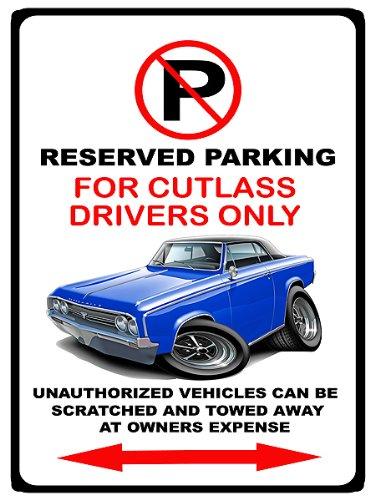 1964 65 Cutlass - 1964-65 Oldsmobile Cutlass Muscle Car-toon No Parking Sign