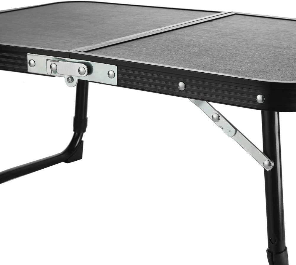 Breakfast Bed Tray or Mini Camping Table Lightweightand Portable Seatopia Camping Folding Table with Height Adjustable Bed Desk Multi-Purpose as Laptop Table